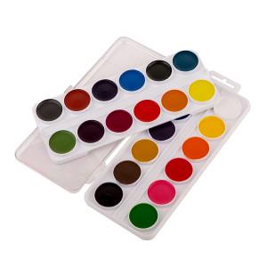 Набор акварельных медовых красок Цветик из 24 цветов в пластиковой коробке