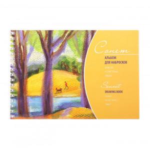 Альбом для набросков Сонет на спирали размер А5 плотность 100 г/м2 50 листов