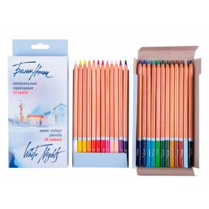 Набор акварельных карандашей Белые Ночи 24 цвета в картоне