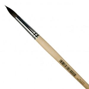 Кисть белка для акварели Невская Палитра № 6 круглая на короткой ручке