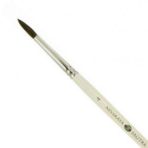 Кисть белка круглая, длинная ручка, Невская Палитра № 4