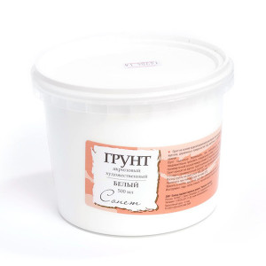 Грунт акриловый Сонет, 0,5 литра, белый