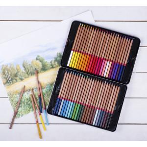 Набор карандашей цветных Мастер-Класс 48 цветов, жестяная коробка