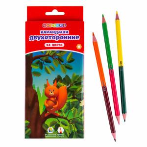 Набор двусторонних цветных карандашей Цветик 12 шт/24 цвета