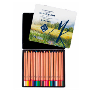 Набор карандашей цветных Мастер-Класс 24 цвета, жестяная коробка