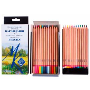 Набор карандашей цветных Мастер-Класс 24 цвета, картонная коробка