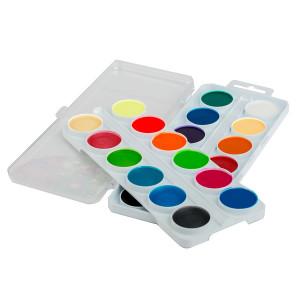 Набор акварельных медовых красок Цветик из 24 цветов, включая 6 перламутровых и 6 флуоресцентных