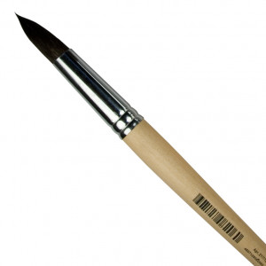 Кисть белка для акварели Невская Палитра № 12 круглая на короткой ручке