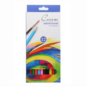 Набор акварельных карандашей Сонет из 12 цветов