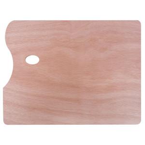Палитра Сонет прямоугольная из дерева, толщина 5 мм, 40х50 см