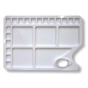 Палитра прямоугольная пластиковая Сонет на 23 ячейки, 34х23 см