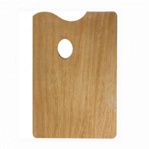 Палитра прямоугольная Сонет из дерева, толщина 5 мм, 25х30 см