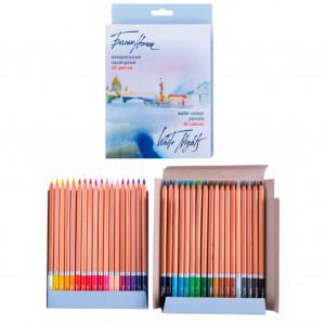 Набор акварельных карандашей Белые Ночи 36 цветов в картоне