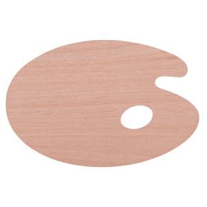 Палитра художественная деревянная овальная 20х30 см толщина 3 мм Сонет