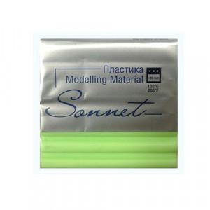 Полимерная глина Сонет, 56 г, цвет салатовый