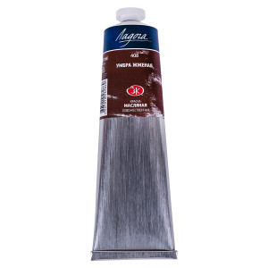 Краска масляная Ладога, туба 120 мл, умбра жжёная № 408