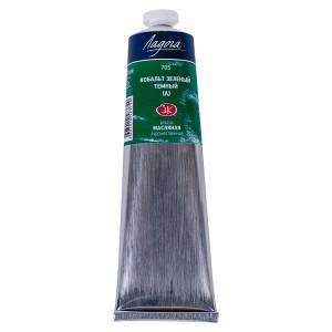 Краска масляная Ладога, туба 120 мл, кобальт зелёный тёмный (А) № 705