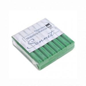 Полимерная глина Сонет, 56 г, цвет травяной зеленый