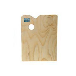 Палитра художника деревянная прямоугольная 230х356 мм