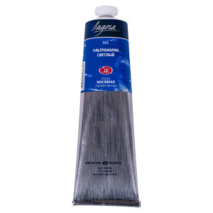 Краска масляная Ладога, туба 120 мл, ультрамарин светлый № 501