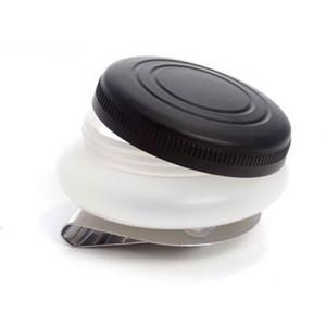 Масленка пластиковая, одинарная, с крышкой, диаметр 4,5 см, высота 1,7 см