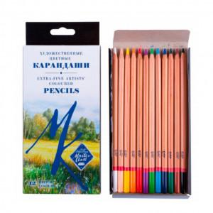 Набор карандашей цветных Мастер-Класс 12 цветов, картонная коробка