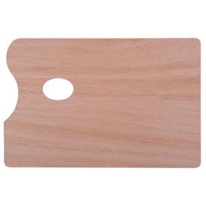 Палитра прямоугольная Сонет из дерева, толщина 5 мм, 20х30 см