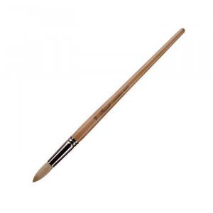 Кисть из щетины, круглая, с длинной деревянной ручкой, покрытой лаком №12 (13 мм)
