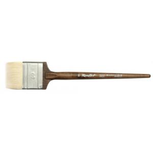 Кисти флейцы из белой козы, ручка круглая деревянная ореховая.