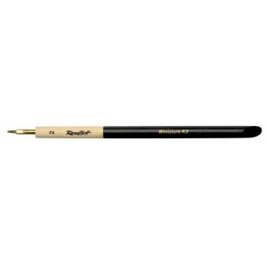 Колонок Миниатюра плоская, ручка скошенная утолщенная с чернм кончиком №2