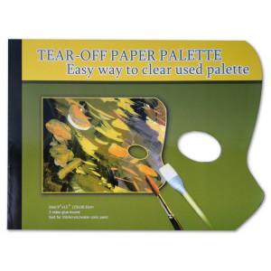 Бумажная палитра 23*30 см с отрывными листами, 58г/м2, 40 листов