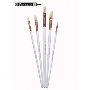 Кисть Pennello DELUXE щетина плоская длинная ручка