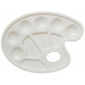 Пластиковая палитра овальная 17*23,5 см (10 ячеек)