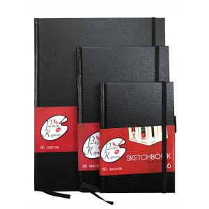 Черный блокнот Sketch Book Рисуй на Кураже A4, 80 листов
