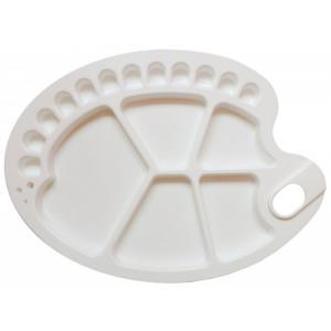 Пластиковая палитра овальная 25*35 см (17 ячеек)