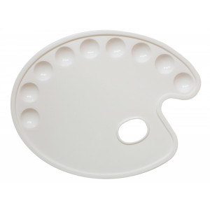Пластиковая палитра овальная 21,5*28,5 см (9 ячеек)