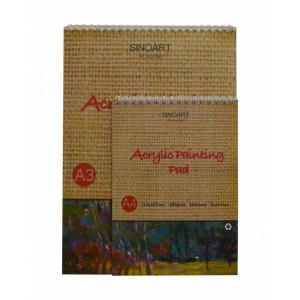 Альбом для акрила А3 Sinoart, 400г/м2, 10 листов